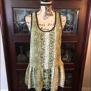 Snake skin printed tunic by Toni.  NWT size XS